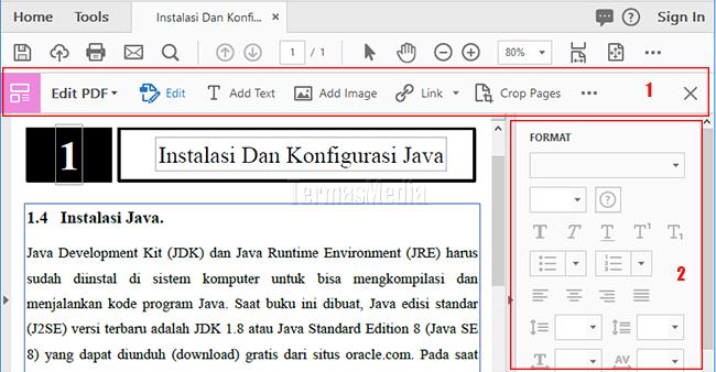 Memformat Teks Di Dokumen Pdf Dengan Adobe Acrobat