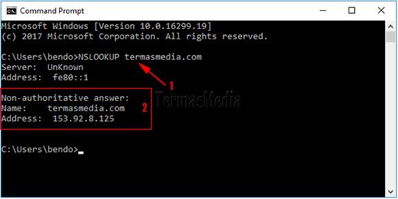 Cara Mengkonversi Nama Domain Ke Ip Address Dengan Nslookup