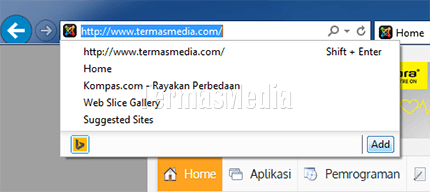 Menambahkan mesin telusur (search engine) di Internet Explorer