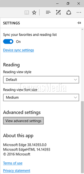 Menampilkan tombol Home (Home button) di browser Microsoft Edge