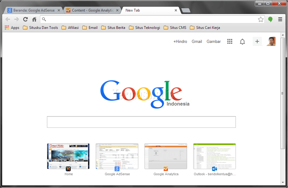 Mengembalikan browser Google Chrome ke motif standar (default theme)