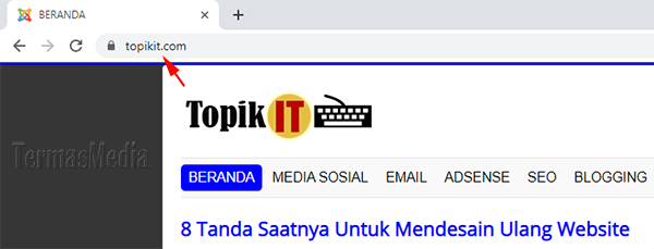 Browser Google Chrome menyembunyikan https dan www dari URL di address bar (omnibox)