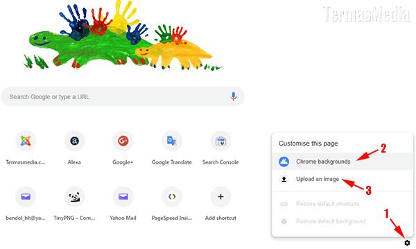 Cara Mengubah Gambar Latar (Background Image) Di Browser Google Chrome