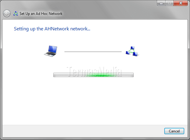 Membuat jaringan wireless mode ad hoc di Windows