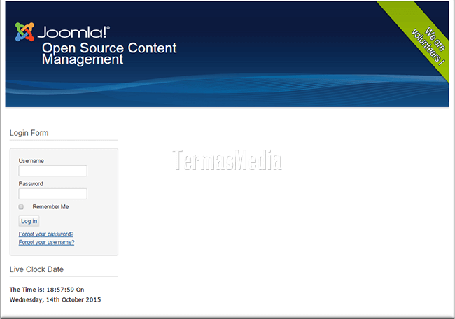Mengganti template di website Joomla