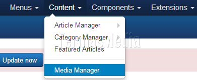 Membuat folder baru di Media Manager Joomla