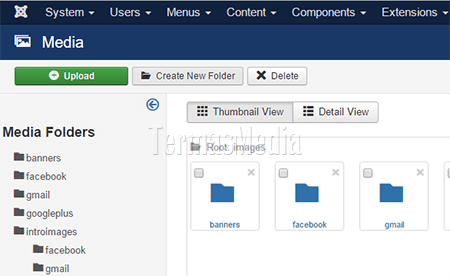 Membuat folder baru di Media Joomla