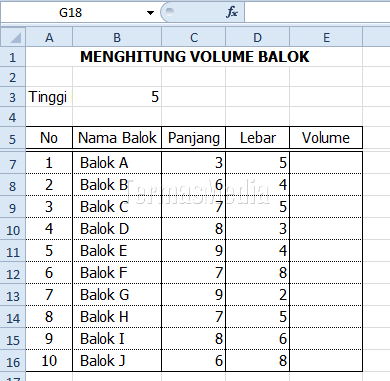 Menggunakan referensi sel absolut (absolute cell reference) di Excel