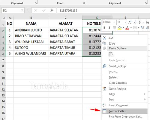 3 Cara Menampilkan Angka Nol 0 Di Awal Pada Sel Excel