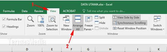 Cara Menyusun Beberapa File Excel Berdampingan Di Satu Jendela