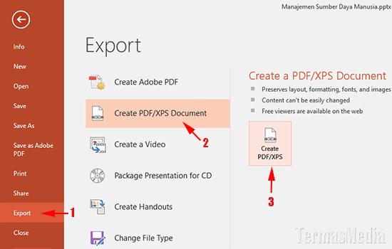 Cara Mengkonversi Presentasi Powerpoint Ke File Pdf Opsi Lanjutan