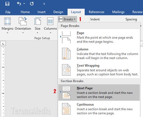Meletakkan Teks Di Tengah Secara Vertikal Di Halaman Microsoft Word