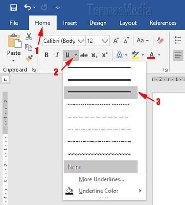 5 Cara Membuat Garis Horizontal Atau Underline Di Microsoft Word