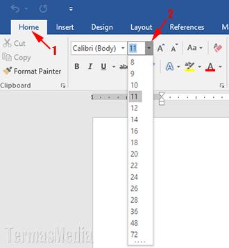 Memperbesar Atau Memperkecil Ukuran Font Di Word Dengan Keyboard