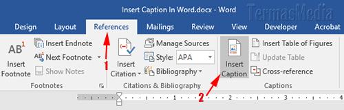 Cara Menyisipkan Keterangan Caption Ke Gambar Di Microsoft Word