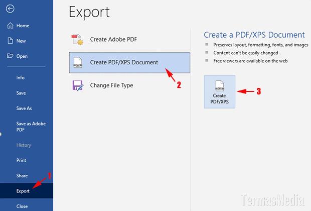 3 Cara Mengubah Atau Mengkonversi Dokumen Microsoft Word Ke Pdf