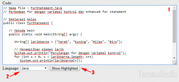 Cara menyisipkan kode program (source code) di Microsoft Word