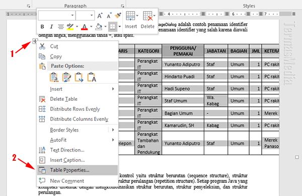 Menggunakan Orientasi Halaman Berbeda Portrait Landscape Di Microsoft Word