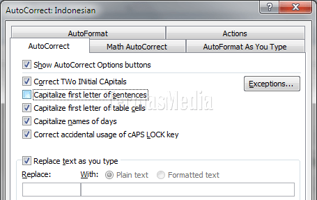 Microsoft Word Capitalize First Letter Of Sentences