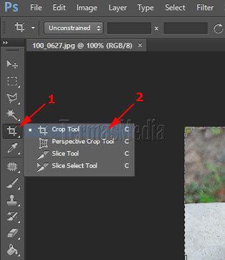 Memotong Gambar Menggunakan Tool Crop Di Adobe Photoshop