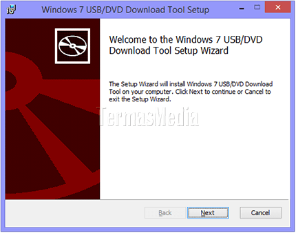 Instalasi perkakas Windows 7 USB/DVD Download tool