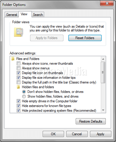Menyeleksi file atau folder di Windows dengan Check Box