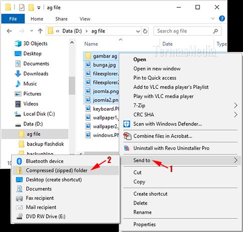 3 Cara Mengkompres Zip File Dan Folder Di Microsoft Windows