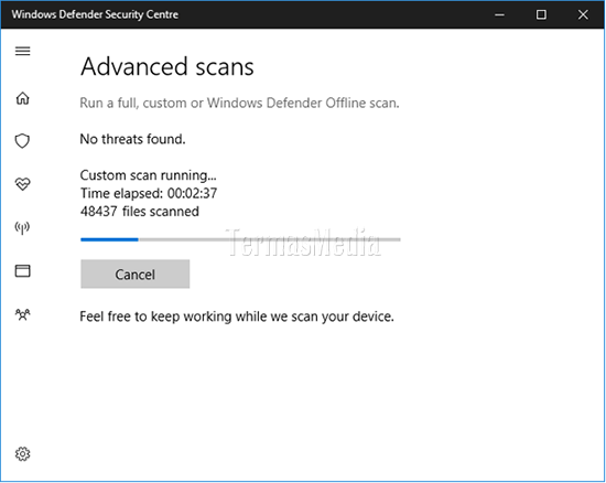 Scan File Atau Folder Dengan Windows Defender