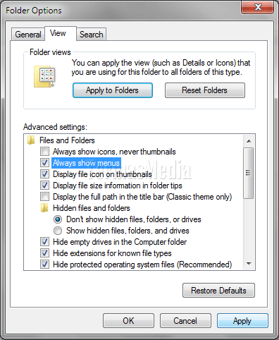 Cara Menampilkan Menu (Menu Bar) Di Windows Explorer