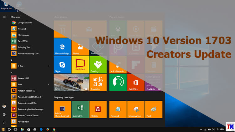 Windows 10 Version 1703 Creators Update